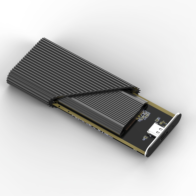 Blueendless SSD M2 PCIe NVMe/NGFF Type C To USB 3.1 Case 2.5' Aluminum External Storage Enclosure USB Hard Disk Caddy Box