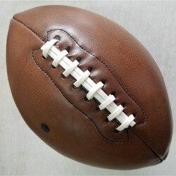 Мяч для регби для спорта на открытом воздухе, винтажный мяч для американского футбольного мяча из искусственной кожи, Размер 9 для студентов...