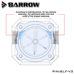 """Image 2 - Barrow G1/4"""" Water Cooling System Electronic Flow Sensor Indicator Access Motherboard To Read Data Flower ,SLF V3"""