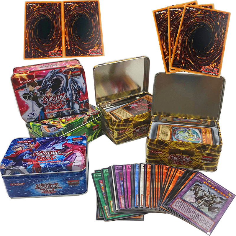 42pcs Yu Gi Oh Game Cards Classic Yu Gi Oh Game English Cards Carton Collection Cards With Flash Card And Metal Tin Box Toys