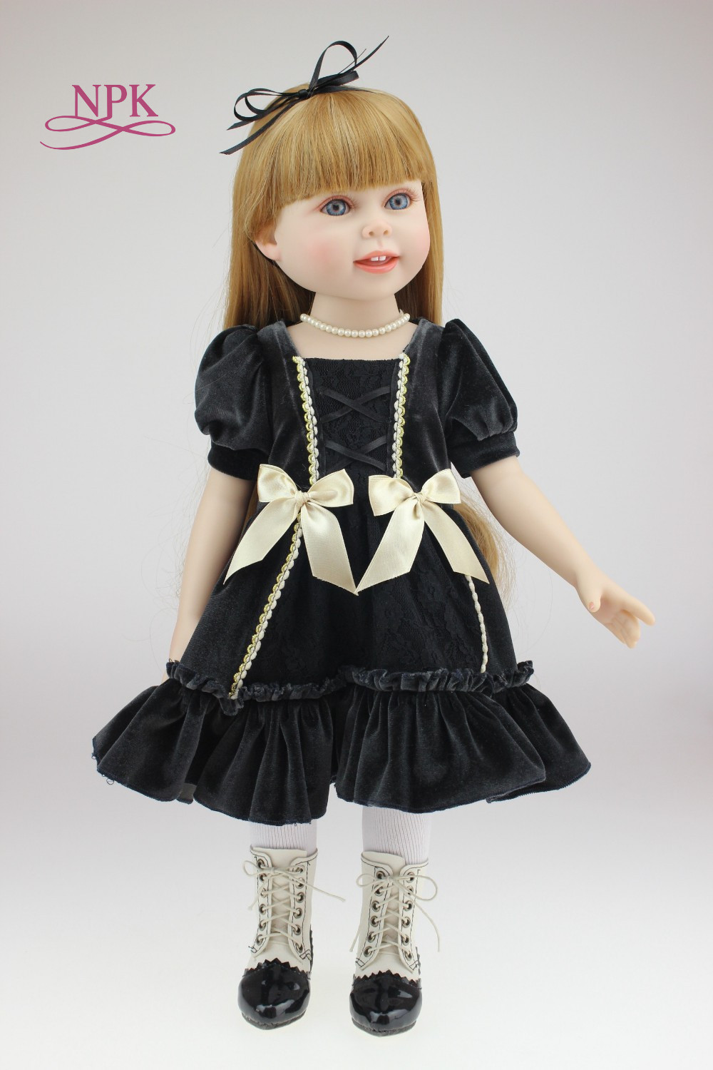 NPK 18inch Beautiful Princess BJD doll SD DOLL with dress for girls toys bonecas brinquedo menina