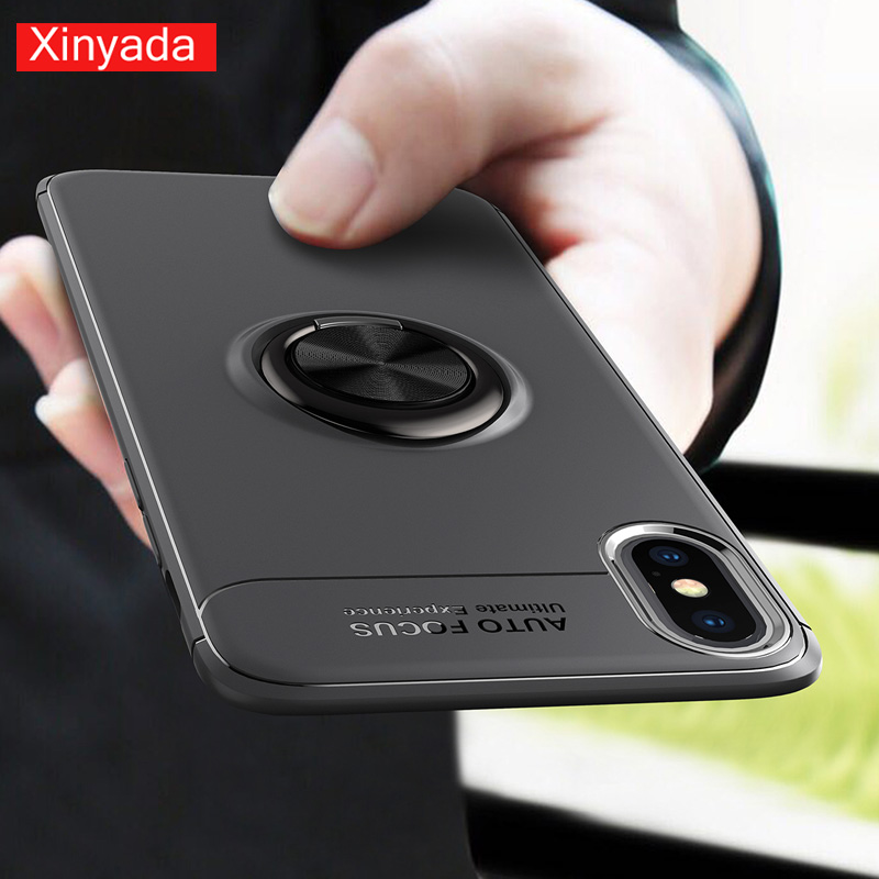 Xinyada Soft Case For iPhone 8 Plus 7 X iPhone8 6 6s Matte Silicone Tpu Shockproof Ring Cover Shell Holder Housing
