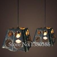 Vintage Creative personality bird cage Pendant Light E27 iron Retro crystal Pendant Lamp Handing light for Restaurant Coffee Bar