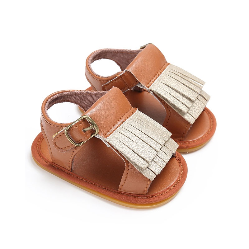 Fashion PU Leather Baby Newborn Baby Tassel Cute Shoes for Kids Sneakers Infant Crib Sandal Toddler Boys Girls First Walker