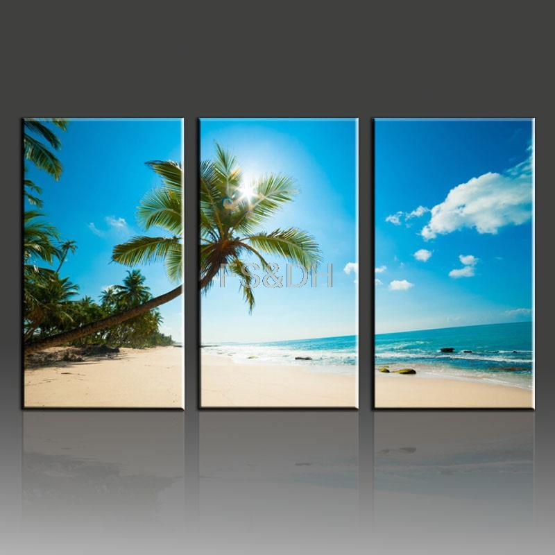 3 Piece Canvas Wall Art Abstract Sets,beach Waves Pictures,beach Home Decor, Beach Canvas Art Wall Pictures For Living Room In Painting U0026 Calligraphy  From ...