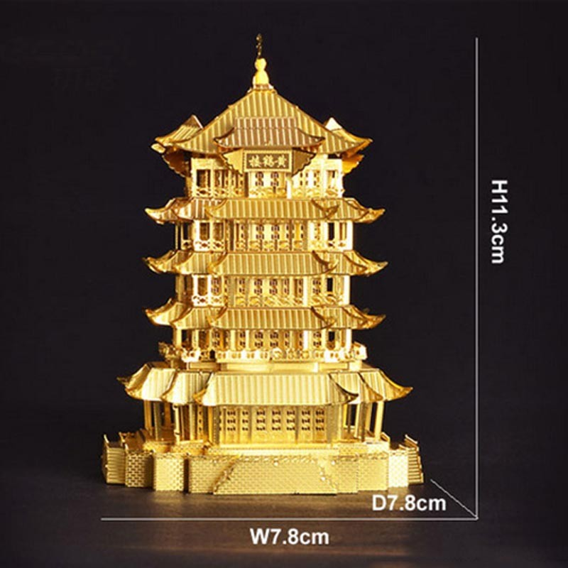 3D-Yellow-Crane-Tower-Metal-Puzzle-Famous-Ancient-Buildings-Kid-DIY-Interesting-Toys-Adults-Manual-Gift-TK0093 (2)