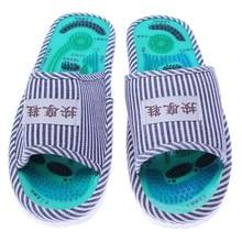 Esenciales de Atención de Salud Masaje Acupuntura Taichi Deslizadores Del Masaje Del Pie del Deslizador de Los Hombres y de Las Mujeres con el Imán de Rayas Zapatos de Interior
