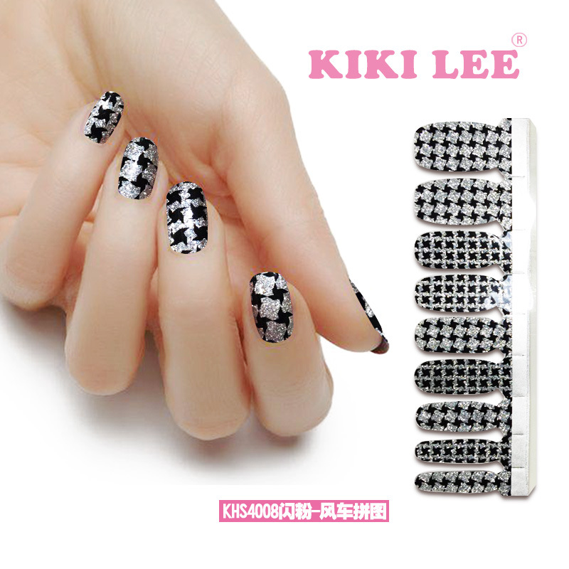 Black And White Stripes High Quality Nail Art Beauty Sticker Decor