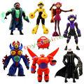 Lote de 8 pcs big hero 6 figura brinquedo hiro, Baymax, fred lemon marvel brinquedos do bebê crianças