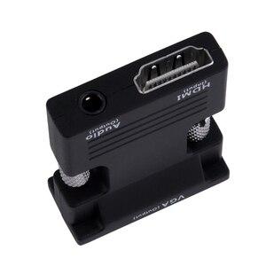 Image 3 - Amkle HDMI لمحول VGA محول HDMI أنثى إلى VGA ذكر الصوت كابل محول الفيديو 1080P للكمبيوتر المحمول شاشة التلفاز العارض