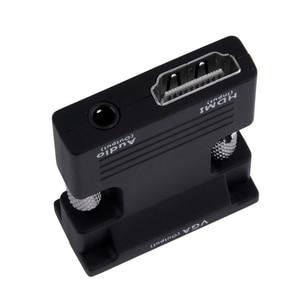Image 3 - Amkle hdmi vgaアダプタコンバータhdmiメスのvgaオーディオケーブルビデオコンバータ 1080 用pcのラップトップテレビモニタープロジェクター