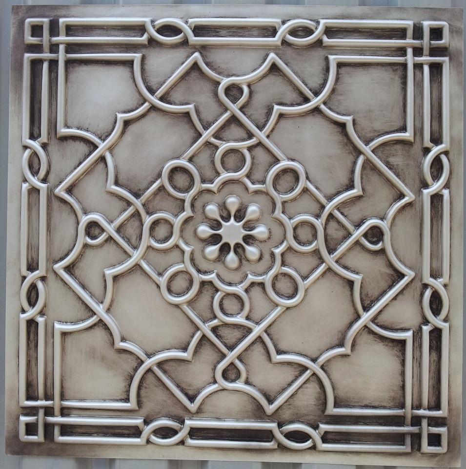 - PL09 Finishing Antique White Faux Tin Ancient Ceiling Tiles