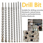 10-25mm SDS Plus135 Cutting-edge Masonry Hammer Drill Bits For Concrete Brick Tungsten Carbide Tip Carbide Tip Shank SDS Plus