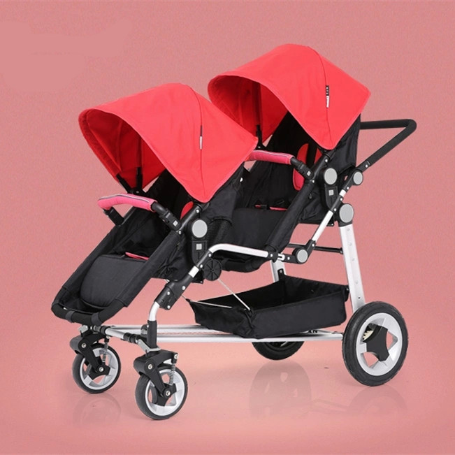 f7703b113 European Styles Twins Baby Pram Trolley Folding Infant Double ...
