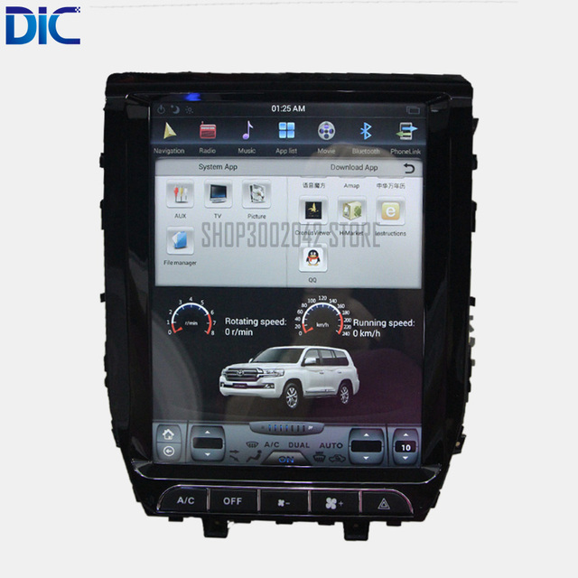 DLC вертикальный экран Android система 12,1 дюймов 32 ГБ Радио руль bluetooth USB для toyota Land Cruiser 2007-2015