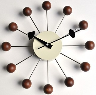 Replica Designer Ball Clock Walnut/wall Clock Modern Design/wall Decor/wall  Watch/factory Shop/Free Shipping In Wall Clocks From Home U0026 Garden On ...