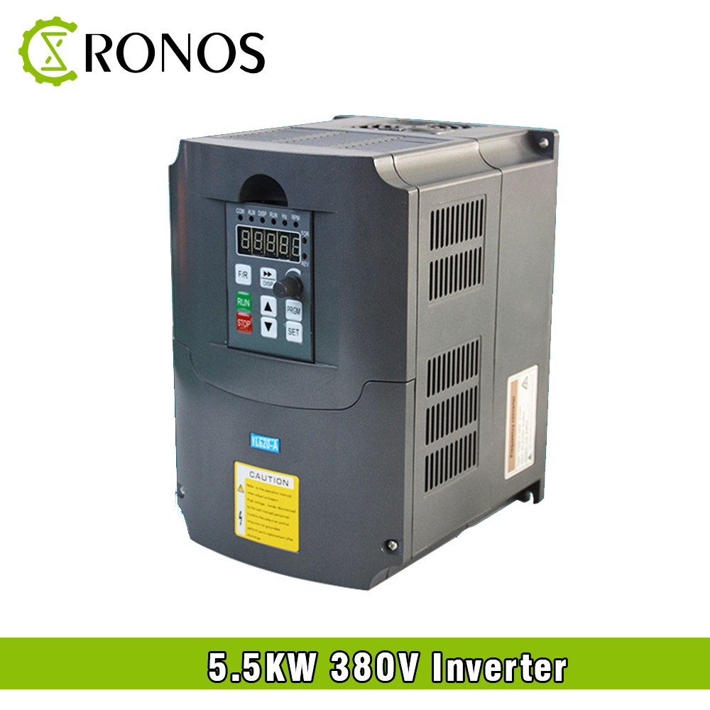цена на Spindle Motor Speed Control 380V 5.5KW VFD Variable Frequency Drive VFD 3HP Frequency Inverter For Motor