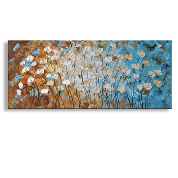 handmade oil painting on canvas modern 100%  Best Art Flower oil painting original  directly from artis  FL1-041