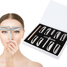 1set Adjustable  Position Eyebrow Ruler Eye brow Measure Balance Extension Ruler Shape Stencil Tattoo Machine Template Practices
