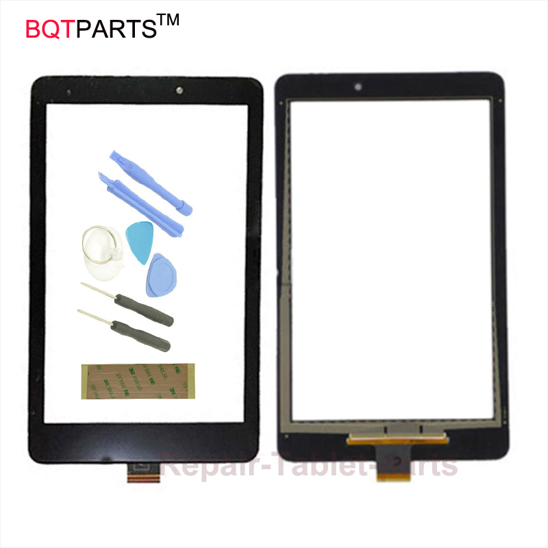 BQT Black White For Acer Iconia One 8 A1-840 A1 840 Touch Screen Digitizer Panel Front Replacement Glass Tablet Sensor bqt 8 inch for acer iconia w1 810 w1 810 tablet pc touch screen panel digitizer sensor glass replacement free tool