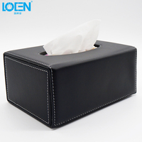 1pc High Quality PU Leather Universal Car Home Office Travel Outdoor Tissue Box Napkin Holder Container