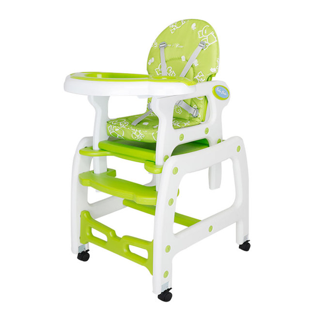 Gentil Mige PP Plastic 2 In 1 Baby Dinner Highchair Booster Seat Baby Table