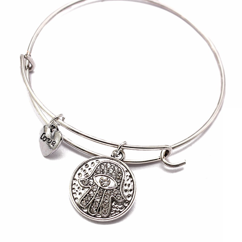 Women's Hamsa Hand Bangle Bracelet 3