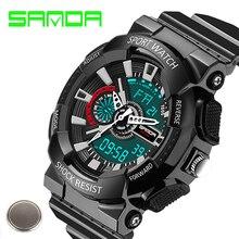 2016 Sanda Quartz Digital Watches Men Watch Waterproof Sport Military S-Shock Watch Men's Luxury BrandRelogio Masculino