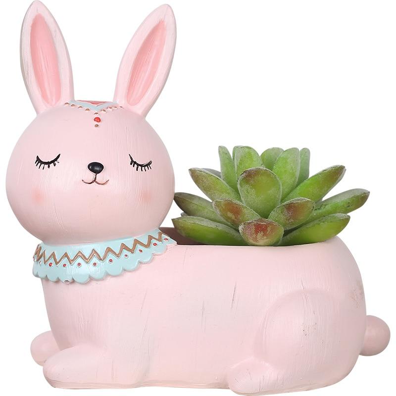 Roogo creative national flower pots for home garden decorations Zakka succulent plant pot desktop cute animal ornaments