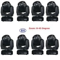 8xlot лучшая цена 7x12 Вт RGBW 4IN1 Мини светодиодный мыть перемещение головного света 95 Вт высокое Яркость светодиодный этап луч света светодиодны