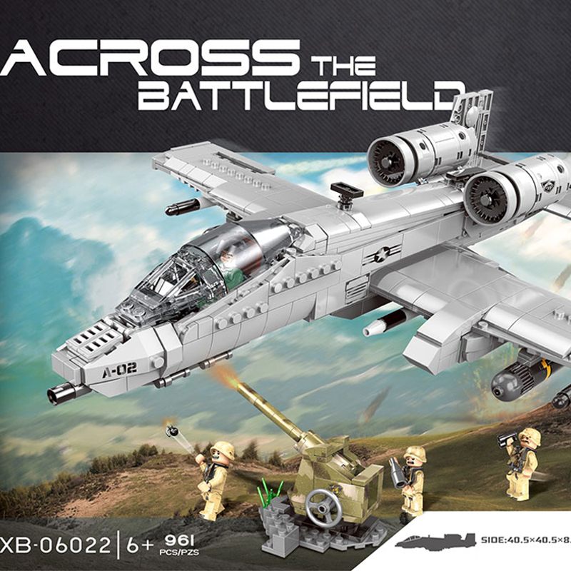 XINGBAO 06022 961PCS Military Series The A10 Fighter Set Building Blocks Bricks Plane Legoings War Toys Model set Christmas GiftXINGBAO 06022 961PCS Military Series The A10 Fighter Set Building Blocks Bricks Plane Legoings War Toys Model set Christmas Gift