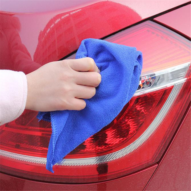 High quality 1 PC 30*30cm Soft Microfiber Cleaning Towel Car Auto Wash Dry Clean Polish Cloth Multi-function Towel Lowest Price
