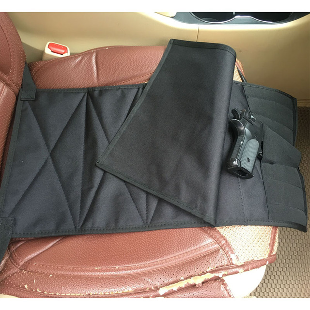Under Seat Concealment Pistol Holster with Spare Pouch for Medium Large Handguns Adjustable for Most Cars Trucks Vans US STOCK 1