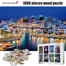 MOMEMO The Bay Night Scene Wooden Jigsaw Puzzle 1000 Pieces High Definition Landscape Adult Puzzles Decompression Toys Gifts