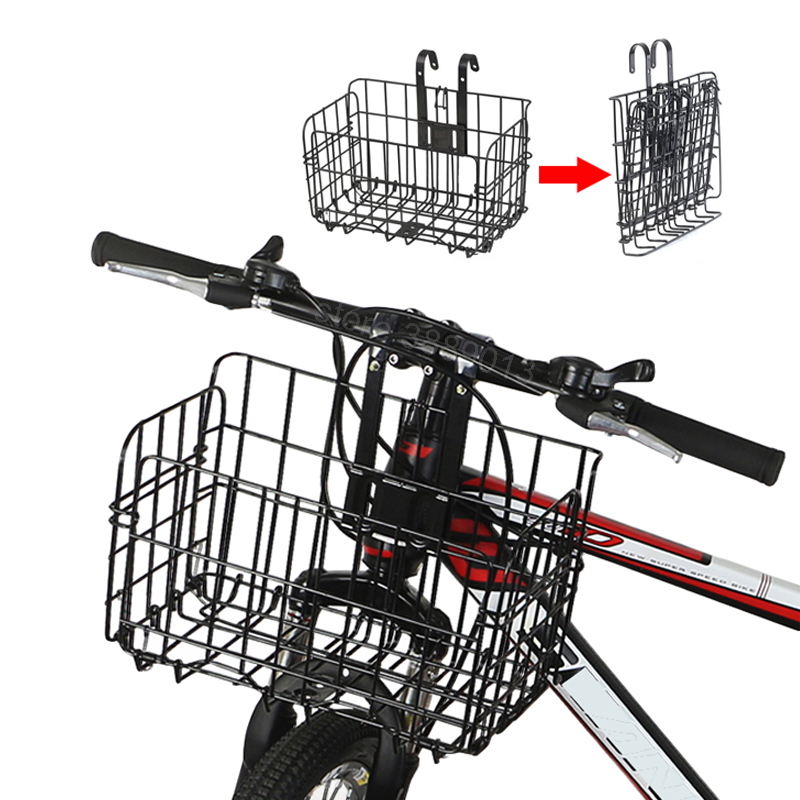 Foldable Bike Pannier Cycling Handlebar Mount Shelf Rear Seat Luggage Storage Folding Cargo Rack Bicycle Baskets For Pet Dogs|Bicycle Bags & Panniers| |  -