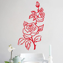 Romantic Rose Wall Stickers Flower Home Decor Beautiful Design For Flower  Shop Wall Decals Living Room Bedroom Decoration Part 70