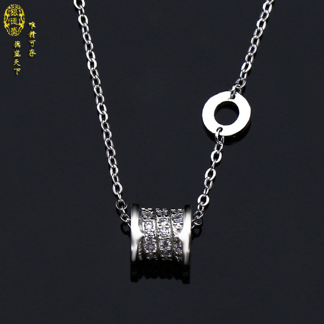 8339d6881366b Lucky necklace female 925 silver short paragraph Fashion Crystal from  Swarovski Heart Pendant Simple Fresh Swan Lock Necklace-in Pendant  Necklaces ...