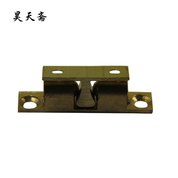 [Haotian vegetarian] antique copper beads touch / antique furniture copper fittings copper 3.8cm touch Card / HTL-041