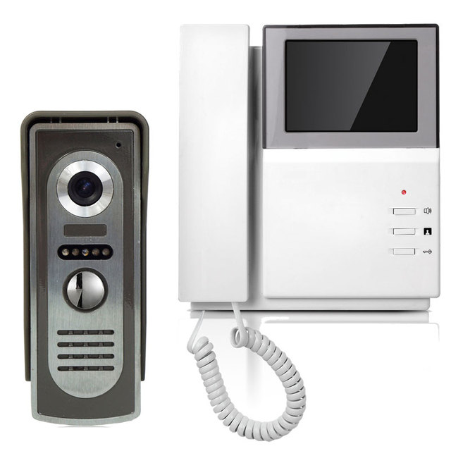 "4.3"" LCD Video Kit Video Door Bell Phone Intercom System Night Vision Color Camera"