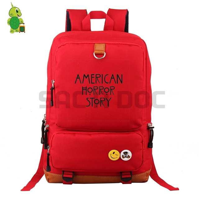 0342caf2cce4 American Horror Story Printing Backpack High School Boys Girls Book Bag  Daily Laptop Backpack Women Men