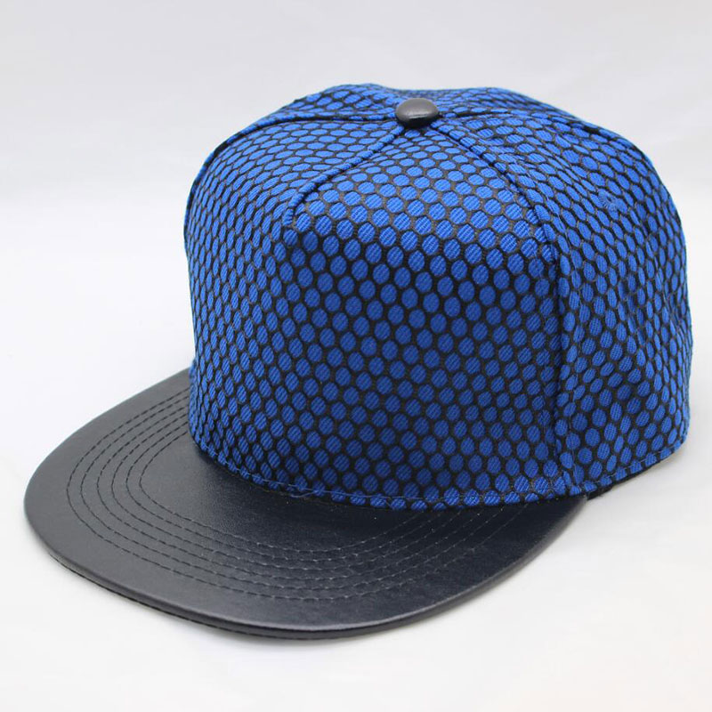 fa2feb82a58be women men flat bill snapback hat PU leather 5 panel hip hop baseball cap  with mesh eyelet red black blue white-in Baseball Caps from Apparel  Accessories on ...