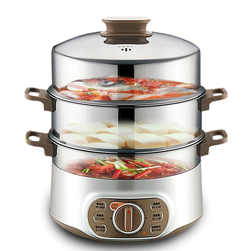 2018 1500 W cuisine électrique vapeur multifonction ménage vapeur automatique mise hors tension haute capacité vapeur à la vapeur plat