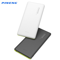 Pineng Power Bank 10000mAh Li Polymer Battery Portable Charger Dual USB Backup Mobile Power Bank For