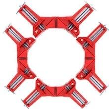 4 قطعة 75 مللي متر ميتري الزاوية المشبك إطار الصورة حامل الخشب الزاوية اليمنى الأحمر