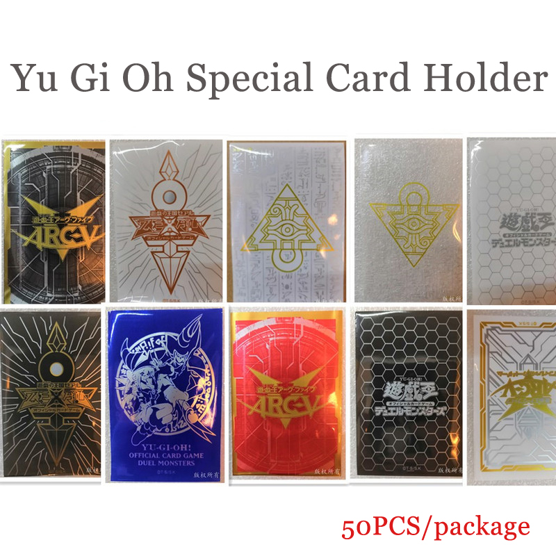 50pcs/package Board Game Yu Gi Oh Card Professional Plastic Jacket Card Holder Variety Of Colors Card Protector(China)