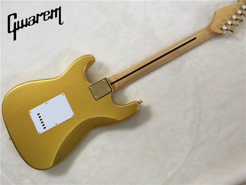 E-Gitarre / Gwarem neue Gitarre Goldfarbe / Gitarre in - Musikinstrumente - Foto 6