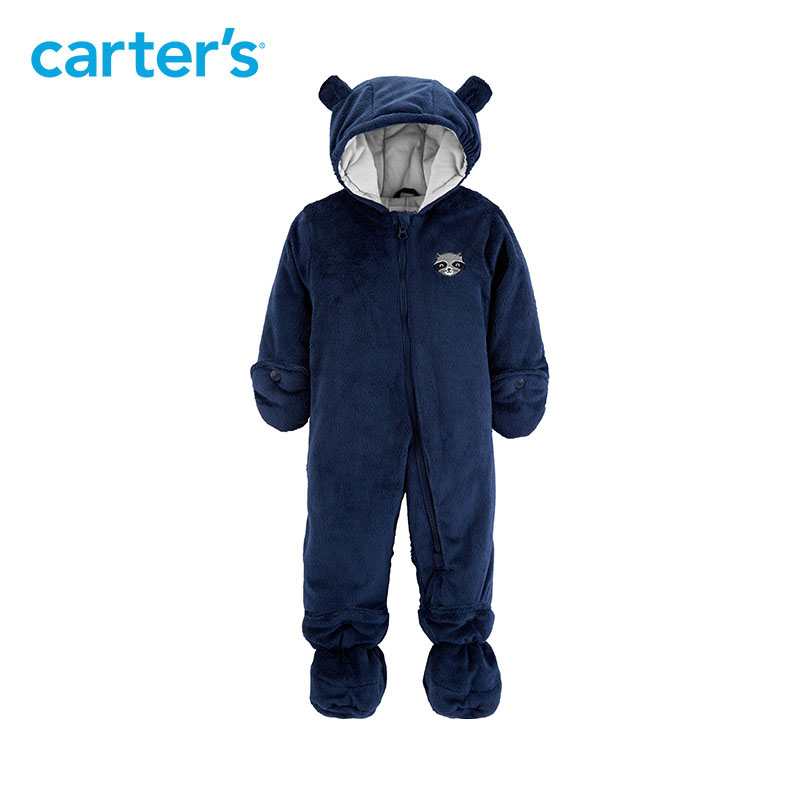 Carters autumn winter overalls baby girl cute bear ears hooded long sleeve footies jumpsuit newborn baby boy clothes CL218K38 baby rompers autumn long sleeve newborn baby boy girl bear toddler jumpsuit romper baby clothes hooded 2018 cute clothing 2yrs