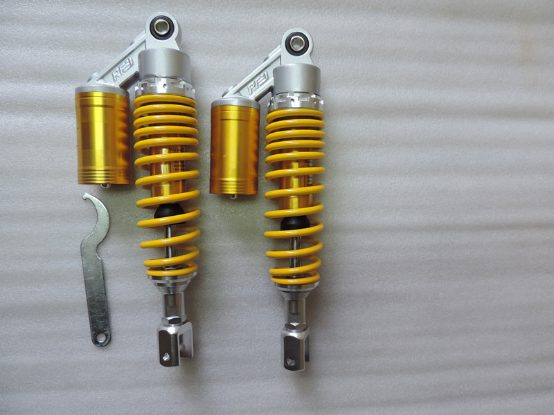 365mm REAR SHOCK ABSORBERS EYE TO CLEVIS  8mm spring  for HONDA   CBX1000  CB900F  yellow+  chrome