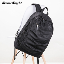 Heroic Knight USB ชาร์จกระเป๋าเป้สะพายหลังแล็ปท็อป 17 นิ้วสำหรับชาย Camo สีดำแฟชั่น Masccline กระเป๋าเดินทาง Backpacks ขนาดใหญ่ความจุกระเป๋า