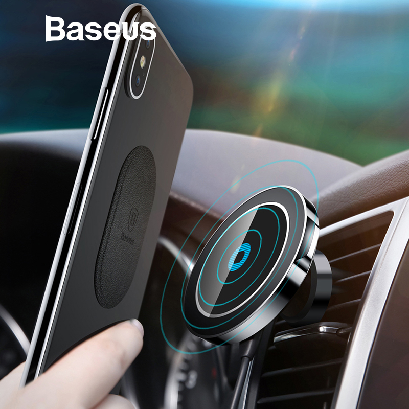 Baseus Magnétique voiture sans fil support de chargeur Pour iPhone X 8 8 Plus aimant de voiture support pour téléphone Sans Fil chargeur pour samsung S9 S8 S7